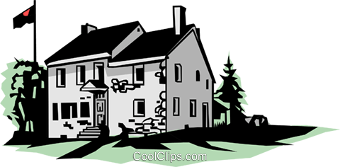 Country house Royalty Free Vector Clip Art illustration arch0086