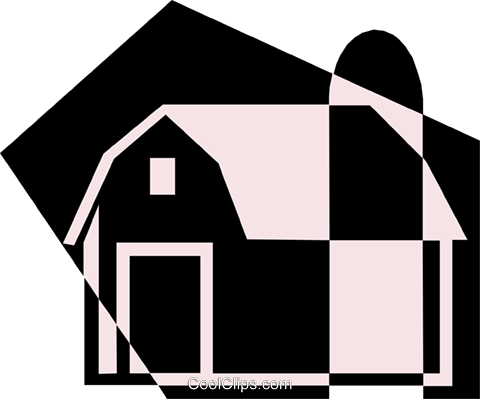 Barn Royalty Free Vector Clip Art illustration arch0319