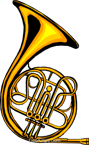 French horn Royalty Free Vector Clip Art illustration arts0021
