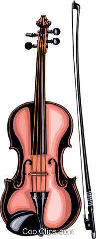 Violin Royalty Free Vector Clip Art illustration arts0022