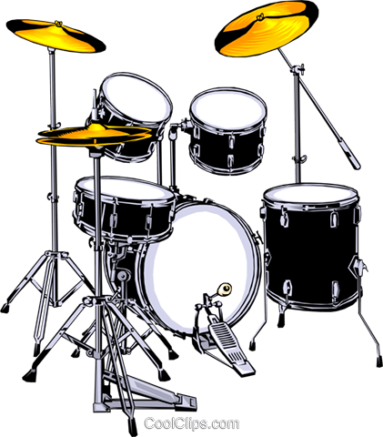 Drum set Royalty Free Vector Clip Art illustration arts0023