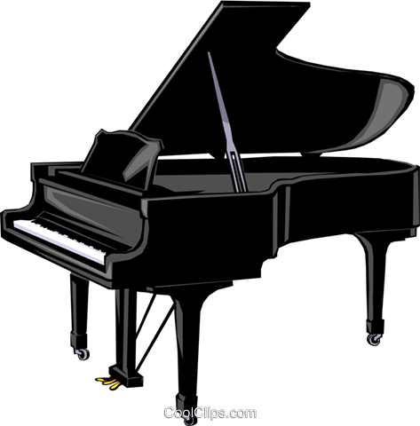 Grand piano Royalty Free Vector Clip Art illustration arts0024
