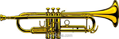 Trumpet Royalty Free Vector Clip Art illustration arts0027
