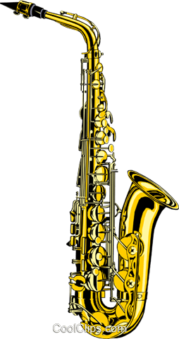 Saxophone Royalty Free Vector Clip Art illustration arts0029