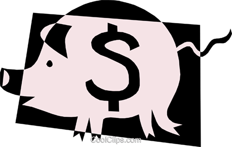 Piggy banks Royalty Free Vector Clip Art illustration busi0692