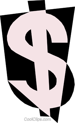 Dollar sign Royalty Free Vector Clip Art illustration busi0711