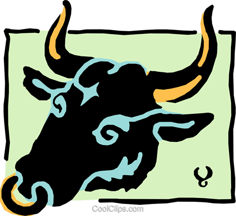 Sign of the zodiac - Taurus Royalty Free Vector Clip Art illustration even0220