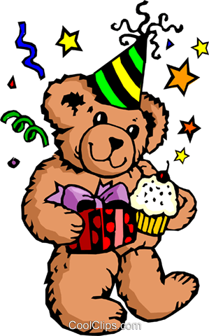 Party bear Royalty Free Vector Clip Art illustration even0230
