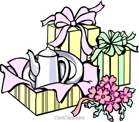 Shower gifts Royalty Free Vector Clip Art illustration even0242