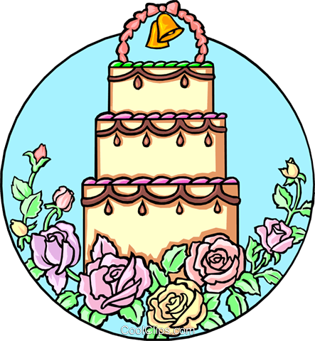 Wedding cake Royalty Free Vector Clip Art illustration even0243
