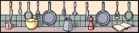 Kitchen background Royalty Free Vector Clip Art illustration even0250