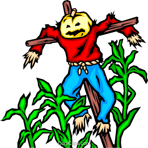 Scarecrow Royalty Free Vector Clip Art illustration even0252