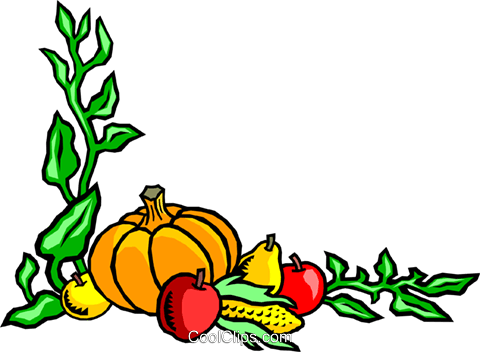 Fall harvest background Royalty Free Vector Clip Art illustration even0253