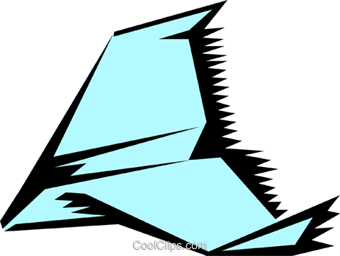 Paper airplanes Royalty Free Vector Clip Art illustration tran0418