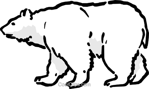 Polar bear Royalty Free Vector Clip Art illustration anim0573