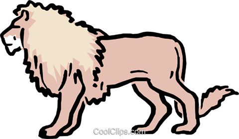 Cartoon lion Royalty Free Vector Clip Art illustration anim0580