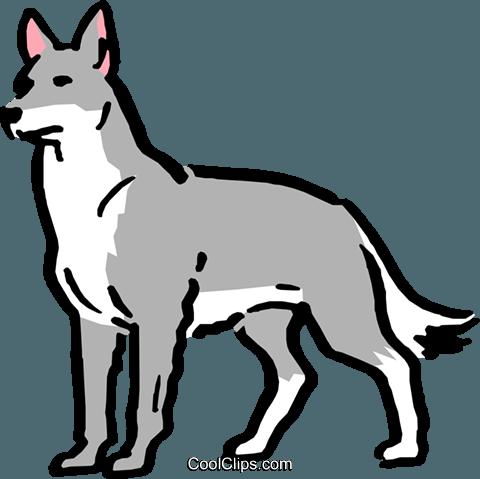 Cartoon wolf Royalty Free Vector Clip Art illustration ...