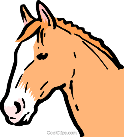 Cartoon horse Royalty Free Vector Clip Art illustration anim0583