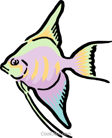 Cartoon fish Royalty Free Vector Clip Art illustration anim0592