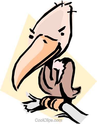 Cartoon vulture Royalty Free Vector Clip Art illustration anim0598