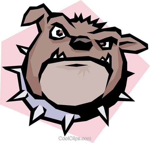 Cartoon bulldog Royalty Free Vector Clip Art illustration anim0599