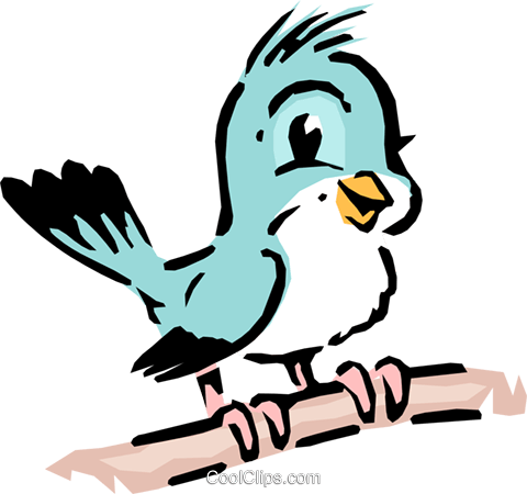 Cartoon bird Royalty Free Vector Clip Art illustration anim0602