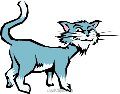 Cartoon cat Royalty Free Vector Clip Art illustration anim0606