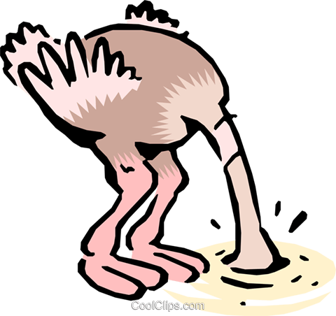 Cartoon ostrich Royalty Free Vector Clip Art illustration anim0613