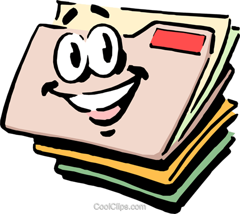 Cartoon file folders Royalty Free Vector Clip Art illustration busi0407