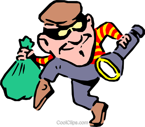 Thief Royalty Free Vector Clip Art illustration cart0651