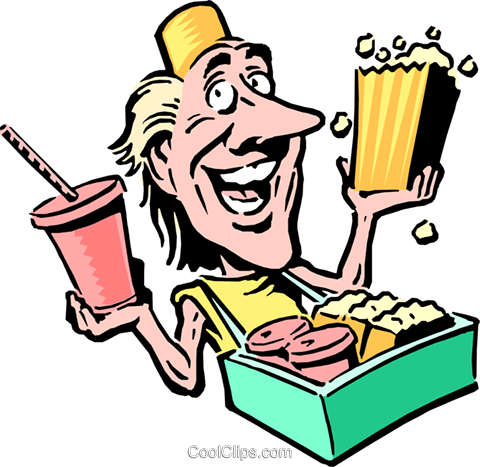 Cartoon food vendor Royalty Free Vector Clip Art illustration cart0679