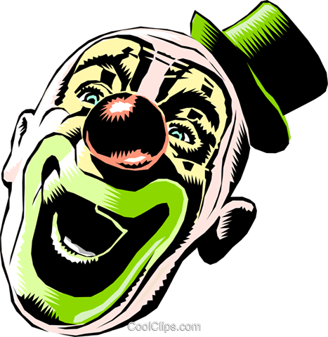 Cartoon clown Royalty Free Vector Clip Art illustration cart0682
