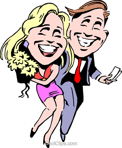 Cartoon couple on a date Royalty Free Vector Clip Art illustration cart0697