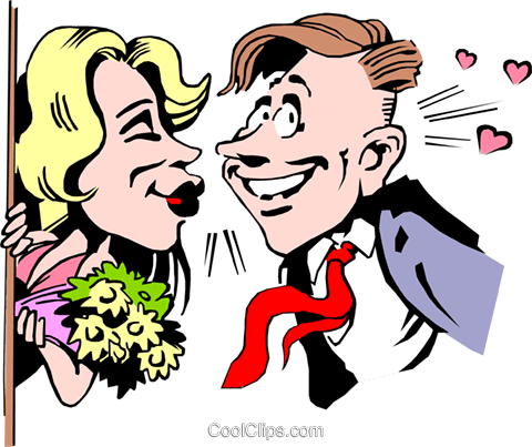 Cartoon date Royalty Free Vector Clip Art illustration cart0698