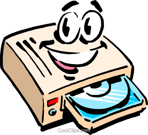 Cartoon CD-ROM drive Royalty Free Vector Clip Art illustration cart0721