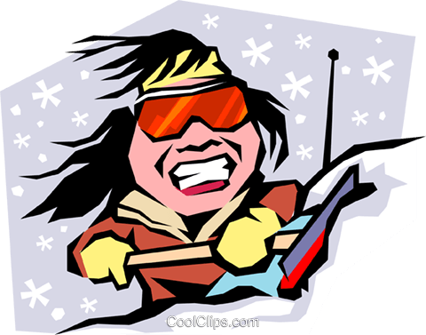 Cartoon snow scrapper Royalty Free Vector Clip Art illustration cart0742
