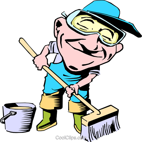 Cartoon street maintenance Royalty Free Vector Clip Art illustration cart0747