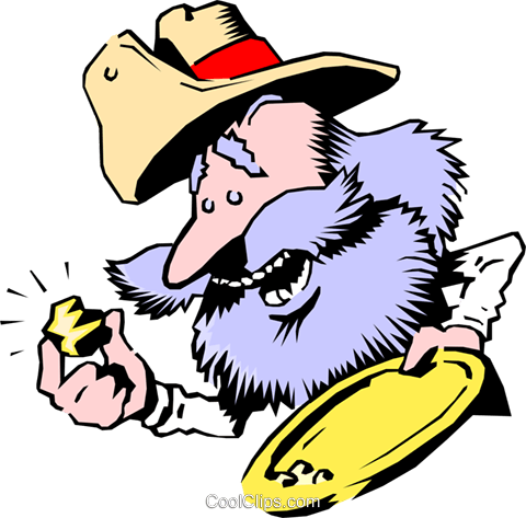 Cartoon prospector Royalty Free Vector Clip Art illustration cart0750