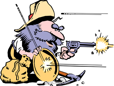 Cartoon prospector Royalty Free Vector Clip Art illustration cart0752
