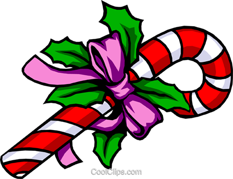 Christmas candy cane Royalty Free Vector Clip Art illustration even0268