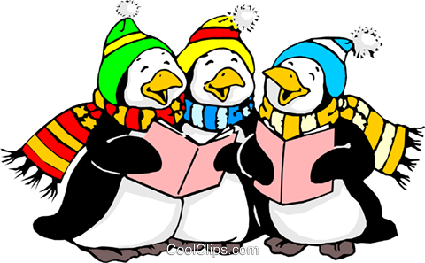 Pinguine singen Vektor Clipart Bild even0270