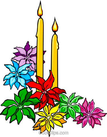 Christmas candles Royalty Free Vector Clip Art illustration even0271
