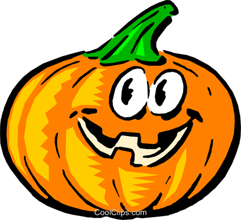 Cartoon pumpkin Royalty Free Vector Clip Art illustration even0274