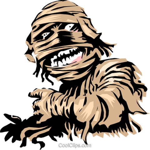 Cartoon Mummy Royalty Free Vector Clip Art illustration even0278