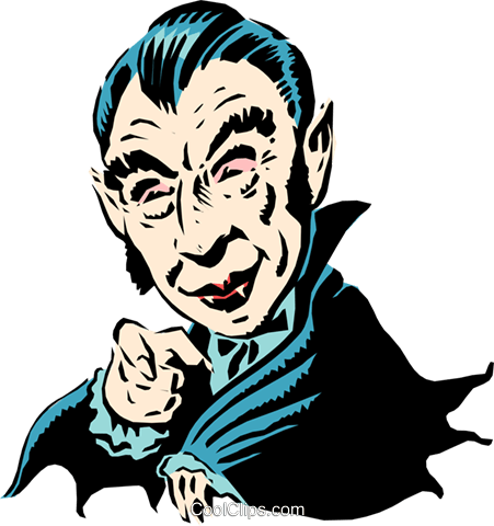 Cartoon Dracula Royalty Free Vector Clip Art illustration even0281