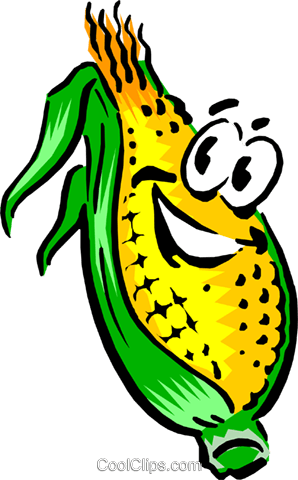 Cartoon corn Royalty Free Vector Clip Art illustration food0426