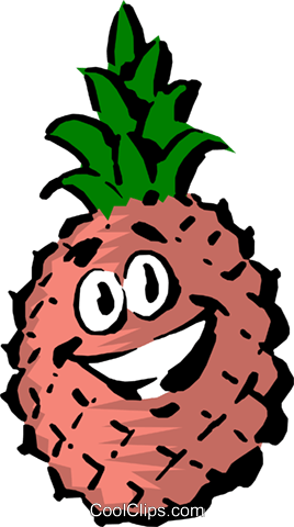 Cartoon pineapple Royalty Free Vector Clip Art illustration food0429