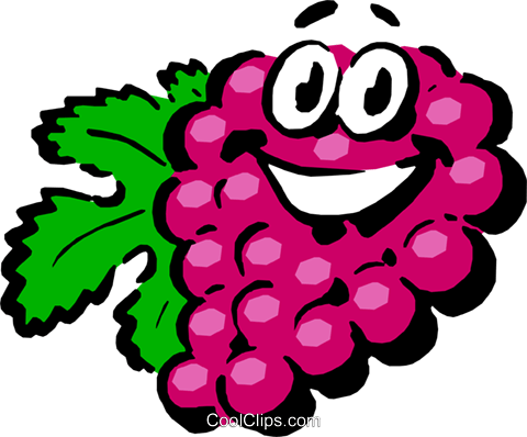 Cartoon grapes Royalty Free Vector Clip Art illustration food0435