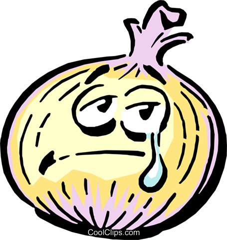 Cartoon onion Royalty Free Vector Clip Art illustration food0436