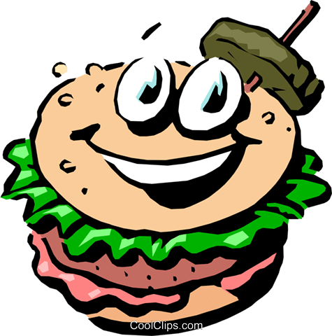Cartoon hamburger Royalty Free Vector Clip Art illustration food0438